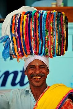 smiles from Lungi Seller - Kerala India