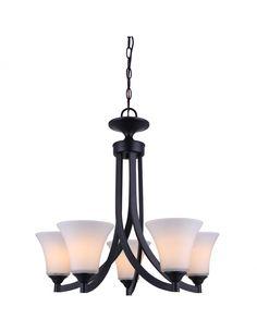 Canarm ICH587A05RA Rue 5 Light Chandelier, Rubbed Antique Bronze – Residential Lighting - GreyDock.com