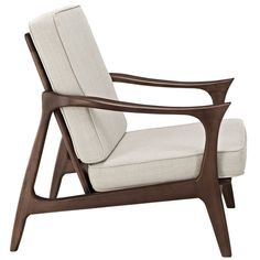 Canoe Lounge Chair in Brown - The Modern Source