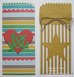 Use the Cherry on Top Designer Paper Stack to make Mini Treat Bags with just two back pieces of the Mini Treat Bag Thinlits Dies. Embellish! http://www.stampinup.com/ECWeb/ProductDetails.aspx?productID=137547&dbwsdemoid=54345