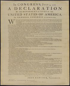 United States of America. Declaration of Independence. 1776. Independence Day. 4th of July ... ... Click on link to read in full size (2218×2733)