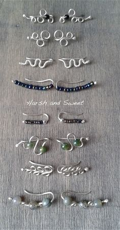 A few of my latest ear vines, the most comfortable of all earrings. #jewelry #silver #earrings