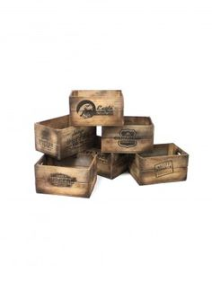 Old Branded Crates