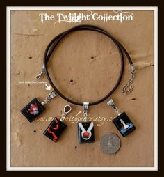 Twilight Book Necklace Set- would love this in a bracelet.