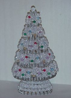 Beaded Christmas Tree Pattern | Crystal Ice Christmas Tree Kit made with crystal faceted beads ...