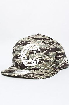 Crooks and Castles Mens Woven Snapback Cap New Chain C Tiger Camo Olive  $22.49