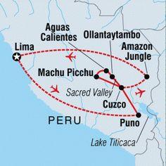Trip Map - Classic Peru & Amazon
