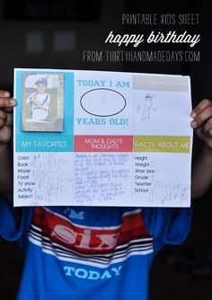 Free kids birthday printable from @30daysblog.