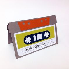 Road Trip Cassette Tape card made with the Silhouette