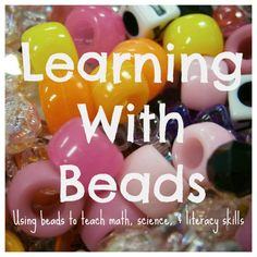 Kid is hooked on beads....Do your kids every play with beads? Beads are a great manipulative for preschool early learning!  Fun-A-Day! shares 12 ways beads can promote early learning in kids at B-InspiredMama.com.