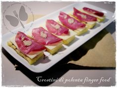 Crostini di polenta, ricetta finger food