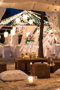 All White Wedding Setting: Pristine Wedding Luxury at Jumby Bay, a Rosewood Resort
