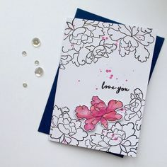 Altenew, Card Sketches, Peonies, Cardmaking, Love You, Handmade, Jars, Stamps, Seals