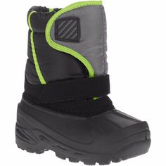 Unbranded Boy's Toddler Essential Winter Boots, 8, Gray/Neon/Black
