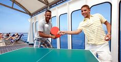 Lets play table tennis, or on a pool table, basketball on the top deck,  jog on the jogging track and other sport activities