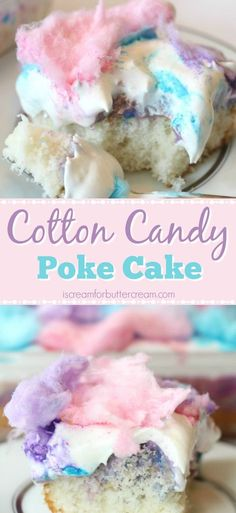 Cotton Candy Poke Cake