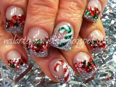 Nail art: merry christmas and a happy new year! Holiday Nail Designs, Holiday Nail Art, Winter Nail Art, Toe Nail Designs, Christmas Nail Art, Winter Nails, Merry Christmas, Christmas Design, Christmas Stocking