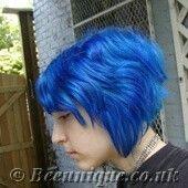 Beeunique Hair Dye Gallery - Special Effects Blue Mayhem Photos