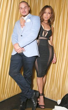 Jennifer Lopez & Casper Smart from The Big Picture: Today's Hot Pics  J.Lo. and her beau celebrate her 46th birthday at 1OAK Southampton in New York. (See more pics of celebs at parties in New York.)