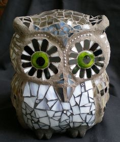Mosaic Stained Glass 3-D Owl - love him