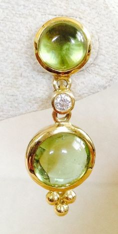 Temple St Clair Peridot Diamond Earrings Templestclair Dropdangle