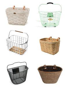 what she has found.: bike baskets.