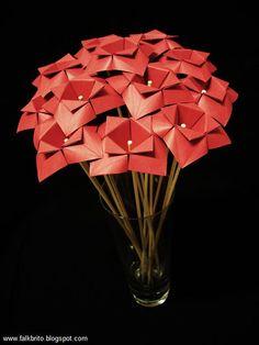Flores De Origami Criadas Por Falk Brito A Partir Da Windmill Base