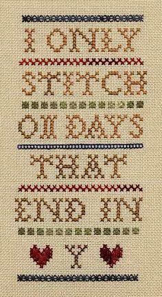 Wondering when to stitch? We love this freebie chart!