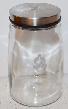 TEAVANA Tea Rock Sugar Glass Container Jar Screw-On Lid Holds 3 Pounds of Sugar #Teavana