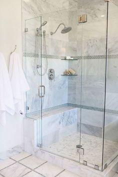 16 Awesome Master Bathroom Remodel Ideas.  LIKE SHAVING LEDGE