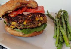 Vegetarian Black Bean Burger #AmericaBound @Sheila Collette Farm