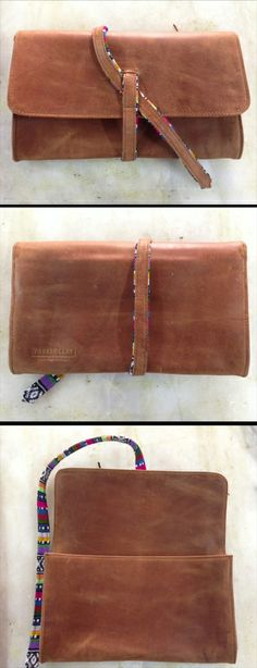 Parker Clay leather clutch sample #madeinethiopia