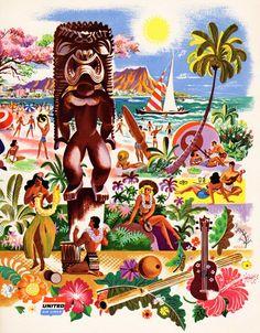 Cool1956 United Airlines - Kona Kai Club Menu! Vintage Tiki, Tiki Bar, Rare Tiki, Tiki Mug, Tiki Décor!