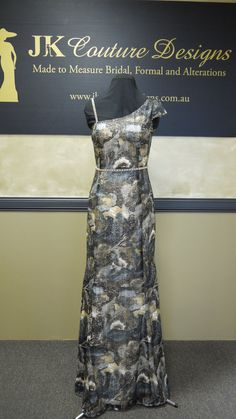 Louise  Sequin Print Dress by JKCoutureDesigns on Etsy, $899.00