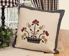 Flowers in a Pot Pillow
