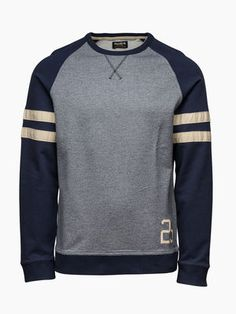Vintage Raglan Crewneck Sweat, MOOD INDIGO, main