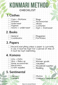 the Konmari checklist pdf, the life changing magic of tidying up pdf How to use A Konmari Bullet Journal to declutter and get organized. Includes Konmari Checklist as free bullet journal printable. Cleaning Checklist, House Cleaning Tips, Spring Cleaning, Cleaning Hacks, Diy Hacks, Cleaning Room, Daily Cleaning, Organiser Son Dressing, Konmari Methode