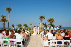 © Favorite Photography | Beach Wedding. Poolside with amazing ocean views. The Plantation at Ponte Vedra Beach