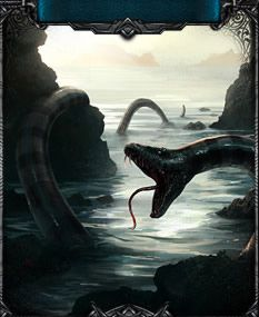 Inspired from the legend of Jormungandr, this sea serpent can be found in Battleknight