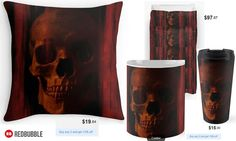 'Into the Dark' Throw Pillow, Mug, Travel Mug and Duvet Cover #artbyurte
