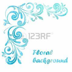 Floral frame Decorative border  Stock Vector