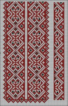 ІІ Border Embroidery Designs, Embroidery Patterns Free, Loom Patterns, Beaded Embroidery, Cross Stitch Embroidery, Hand Embroidery, Cross Stitch Patterns, Knitting Patterns, Pyrography Patterns