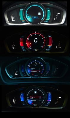 2013 Volvo V40 Performance instrument cluster