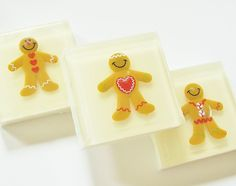 Gingerbread Man Toy Natural Soap (5 oz) - Fall limited edition