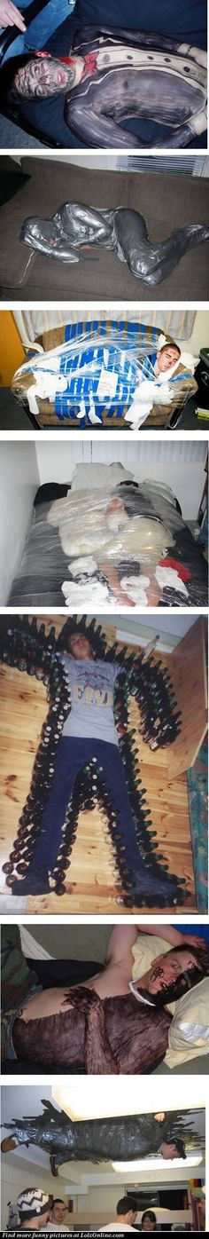 Reasons not to drink with ninny-friends. And by the way, how are those people still sleeping? O.o
