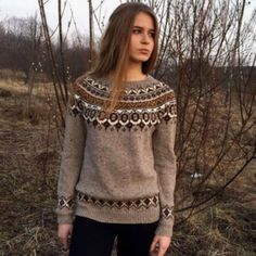 fair isle knitting Fair Isle sweater Taupe Icelandic sweater Made to order Nordic Pullover, Nordic Sweater, Fair Isle Pullover, Fair Isle Knitting, Sock Knitting, Vintage Knitting, Free Knitting, Knitting Sweaters, Knitting Machine