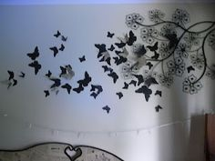 DIY 3D butterfly wall