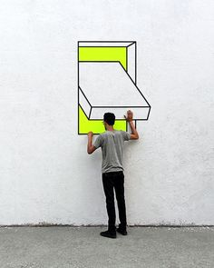 Graffiti as an optical illusion A graffiti is an ugly doodle . - Street-Art (Murals, Graffiti, Kunst, Installationen) - HoMe 3d Street Art, Street Art Graffiti, Street Artists, Graffiti Kunst, Graffiti Murals, Graffiti Lettering, Street Installation, Tape Installation, Installation Architecture