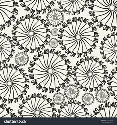 Seamless pattern. Modern repeating texture. Fancy print with stylized flowers