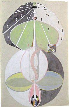 Hilma af Klint - Nr 5. Kunskapens träd, 1913.